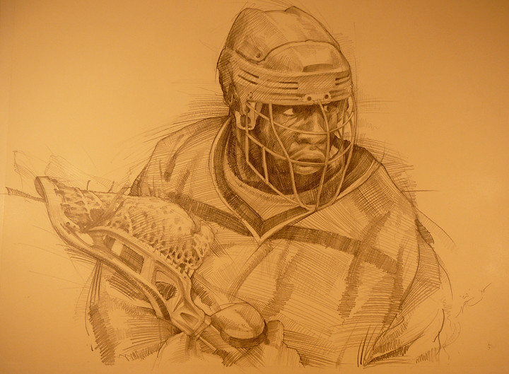 """CJ Cgreene""  Graphite on paper.  Hoboken, NJ.  2010."