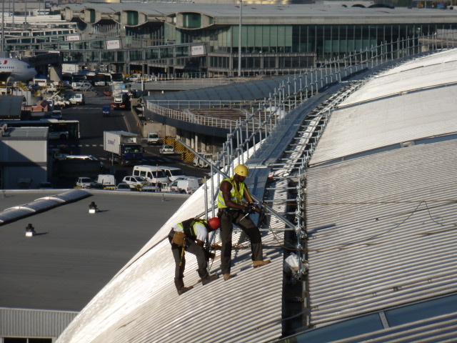 platelage en échafaudage sur l'aéroport de Roissy Charles de Gaulle