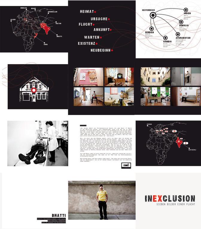 bookdesign inexclusion-sieben bilder einer flucht by visob