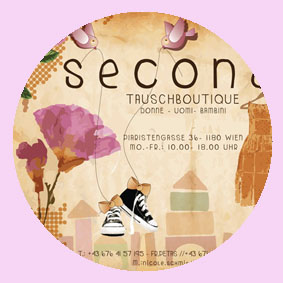 secondi - second hand laden 1090 wien  |logo design | visob