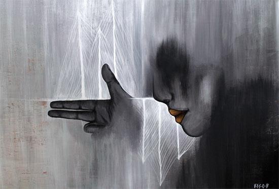 jagd 01  acryl on canvas   70x49 cm