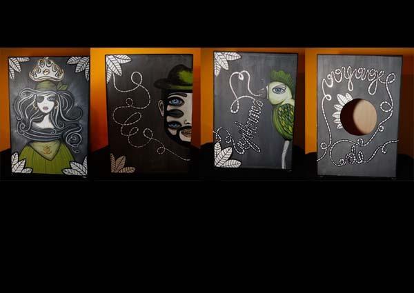 cajon |acryl on wood | 2011