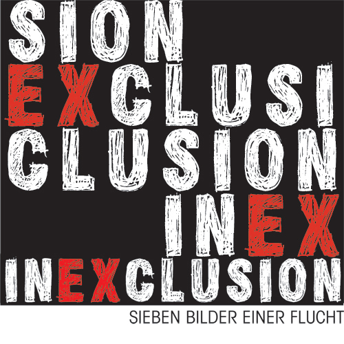 logodesign inexclusion-sieben bilder einer flucht by visob