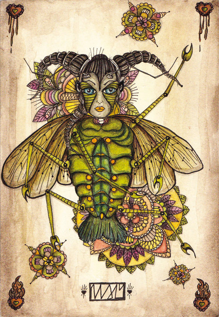 spring:spring |105 x 148 | watercolor pigmentliner | 2010