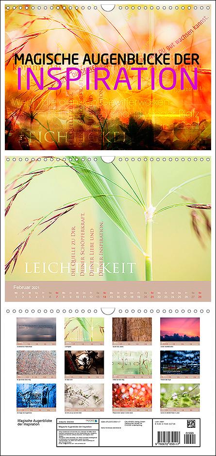 """Kalender """"Magische Augenblicke der Inspiration"""""""