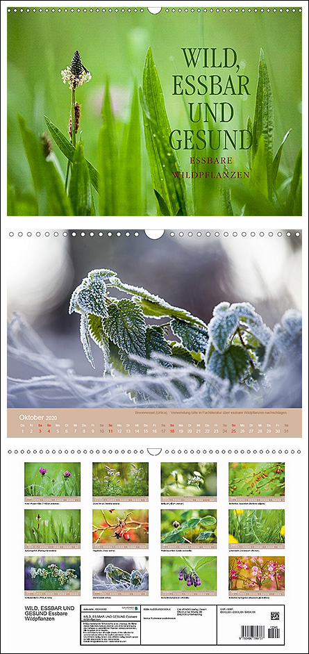 """Kalender """"Wild, Gesund und Essbar - essbare Wildpflanzen"""""""