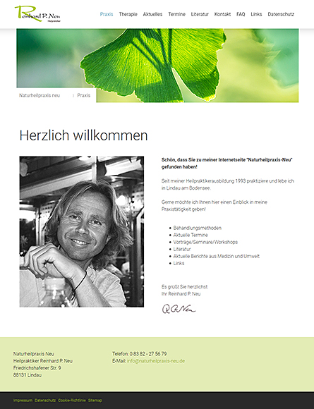 Naturheilpraxis Reinhard Neu - Lindau Bodensee