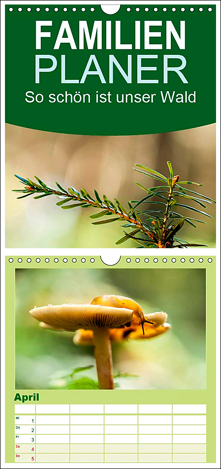 """Kalender Familienplaner """"So schön ist unser Wald"""""""