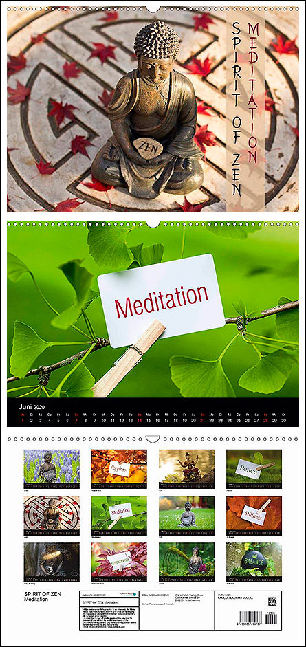 "Kalender ""Spirit of Zen Meditation"""