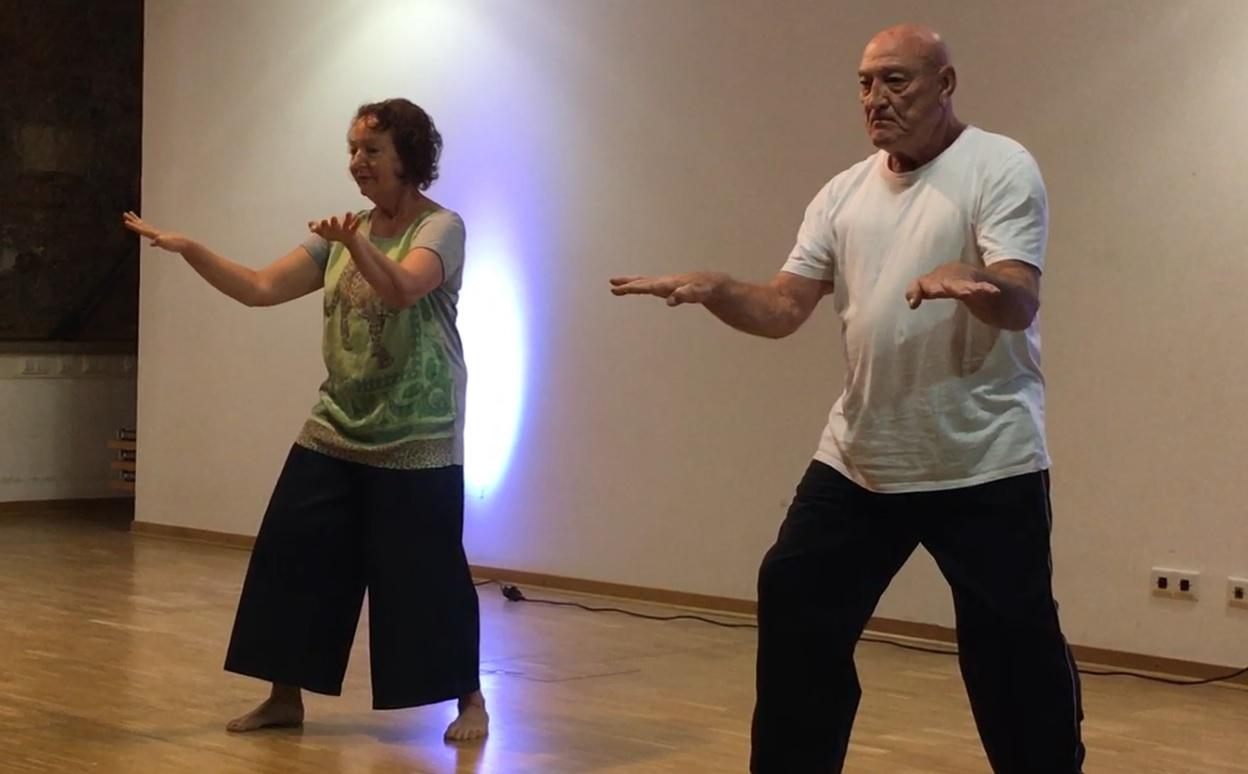 Gala - Hella Ebel und Peter Dobson performing White Crane (Pah Pu Lian)