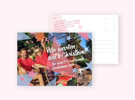 Weihnachts-Postkarte / Blumenfinca VillaWilua Mallorca