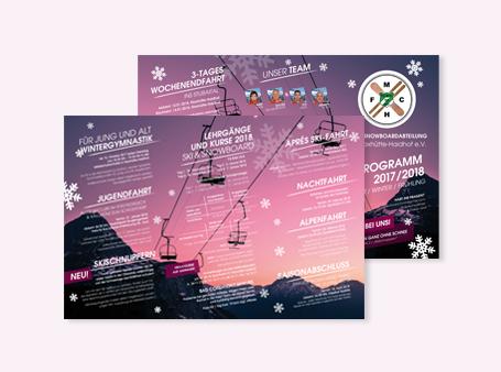 Gestaltung / Programmflyer / Skiclub FC Maxhütte-Haidhof