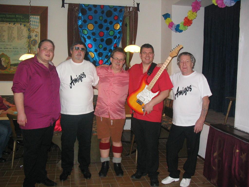 Sorgten für beste Stimmung; Walter als Andreas Gabalier; Sigi und Günther als Amigos und die beiden Partykracher