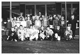 Foto einer Schulklasse zum Thema: Schule früher