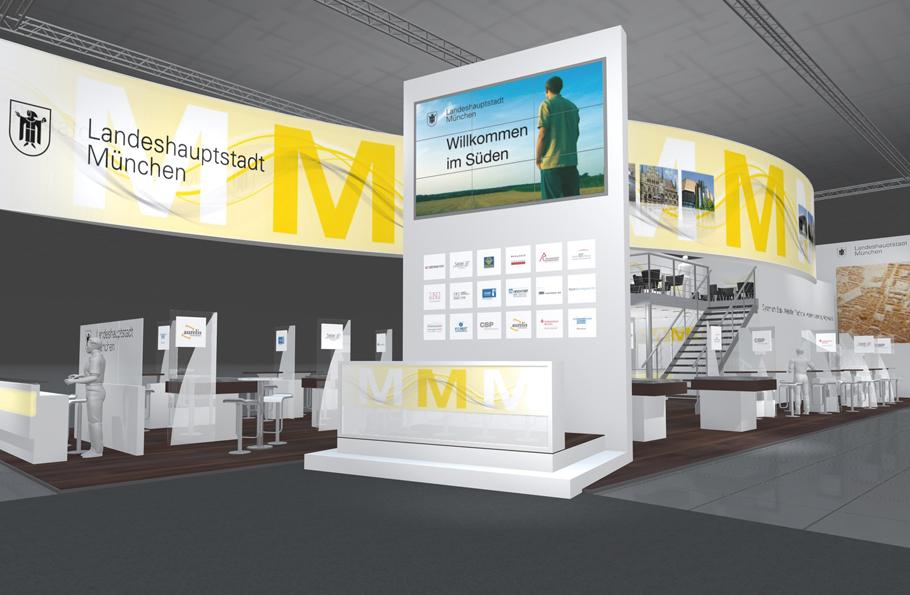 Messedesign und Messegrafik für die Landeshauptstadt München auf der Expo _ Pitch