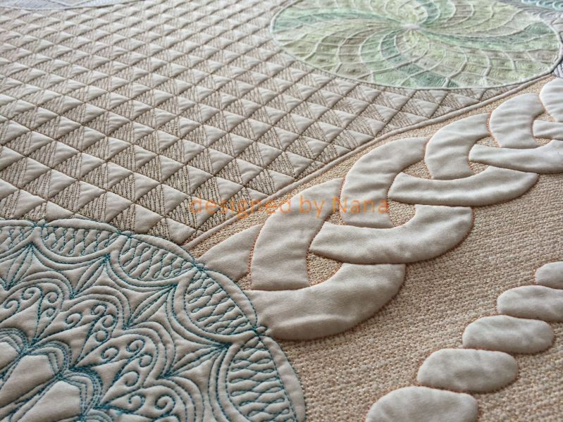Mandala-Quilt (Ausschnitt)