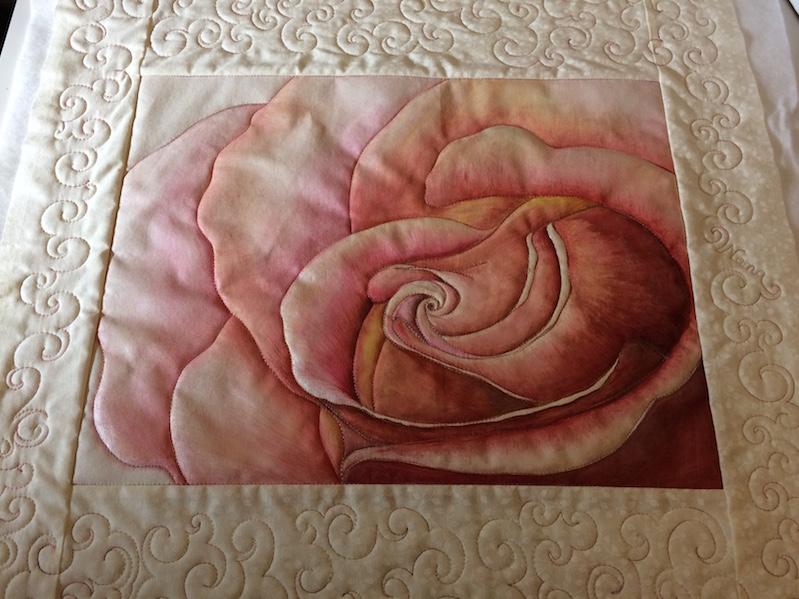 Rose, gemalt auf Stoff