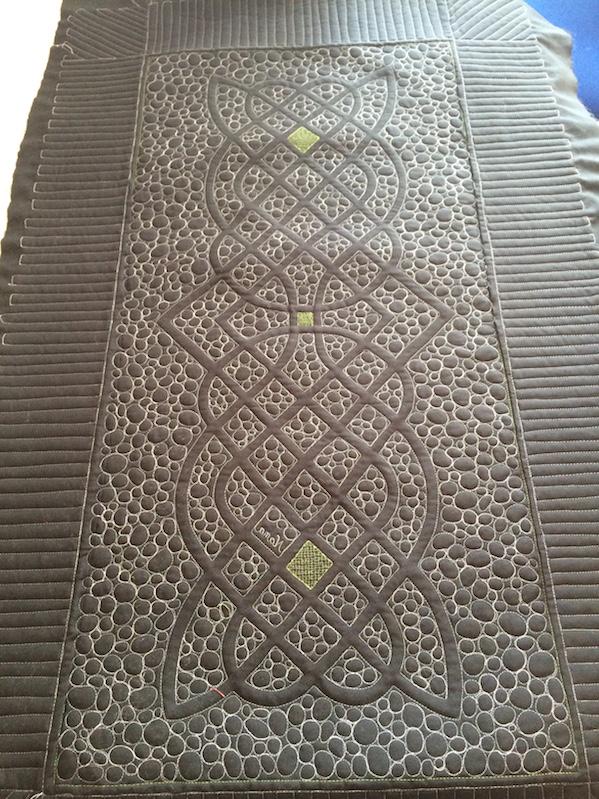 keltischer Knoten, Läufer, Rückseite (Quiltauftrag)