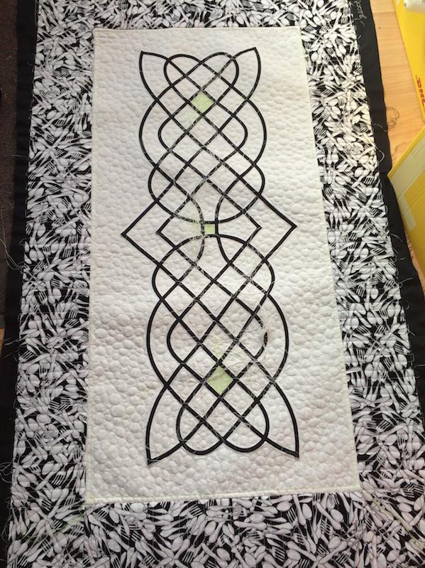 keltischer Knoten, Läufer (Quiltauftrag)