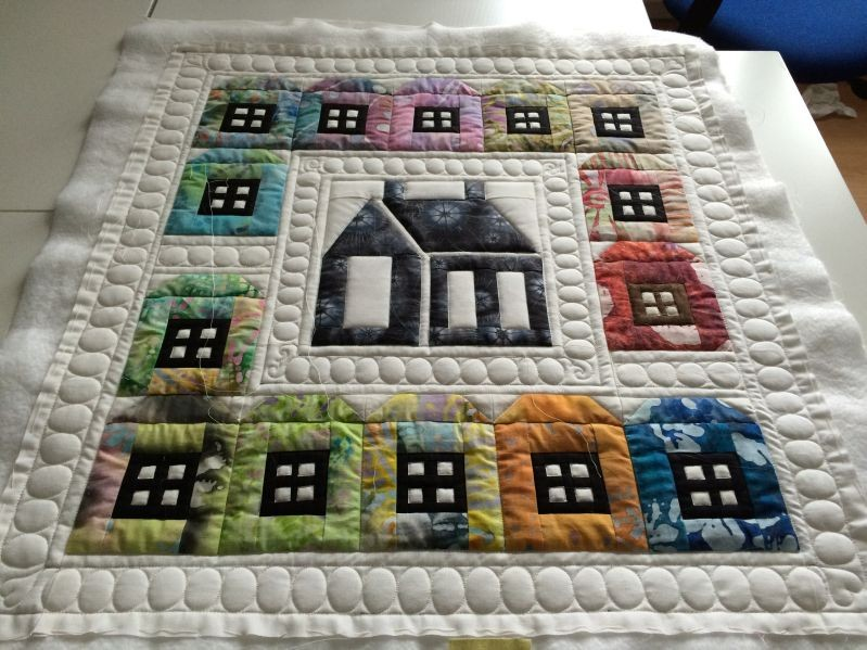Häuserquilt/Wandbehang (Quiltauftrag)