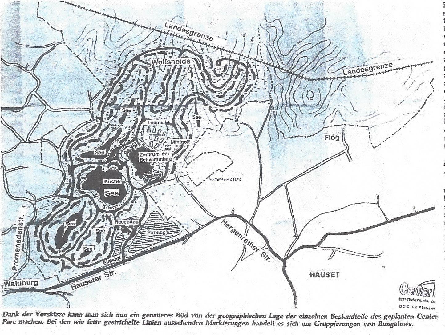 Planung Center Parcs 1988