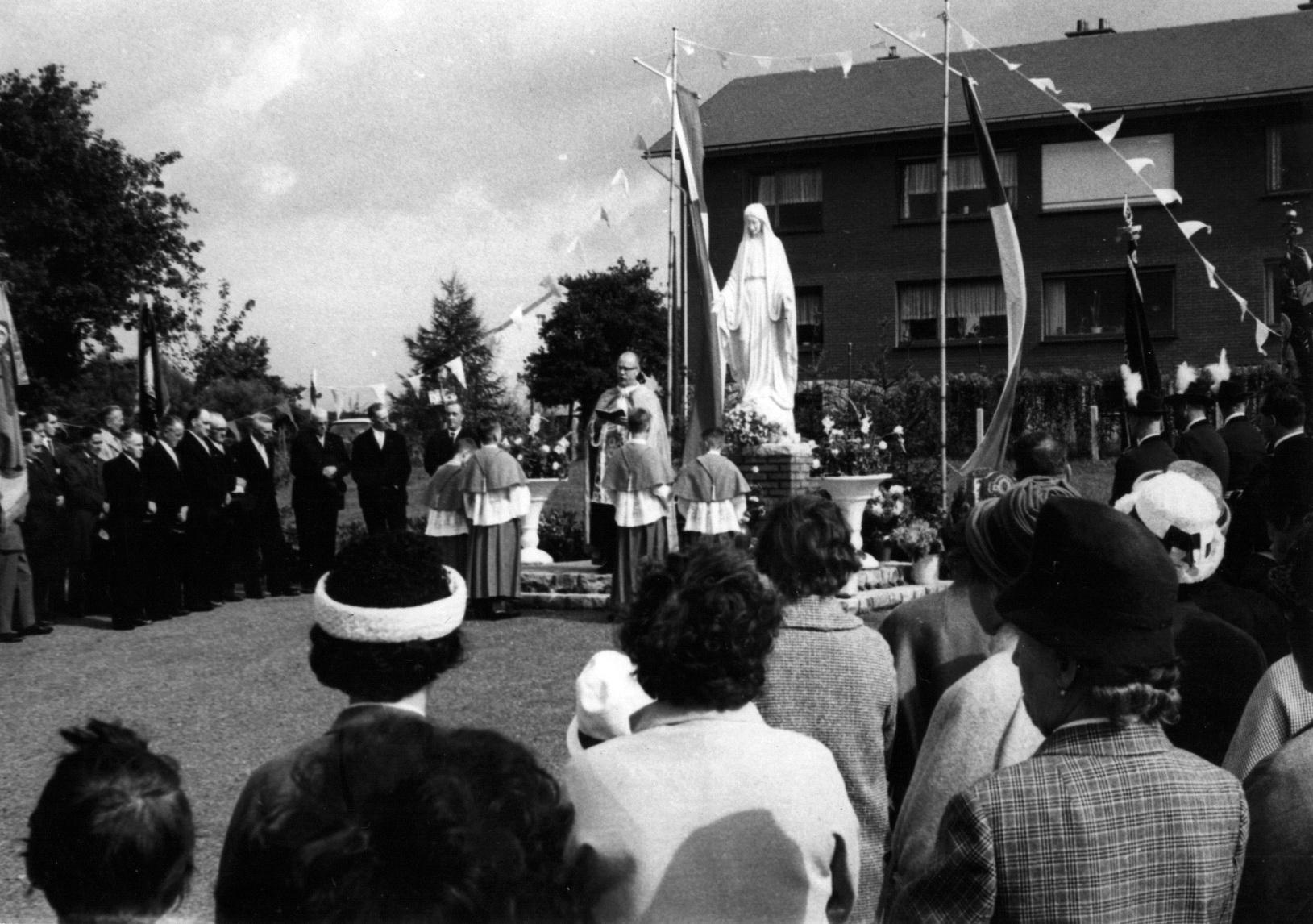 1964 Marienstatue Enthüllungsfeier