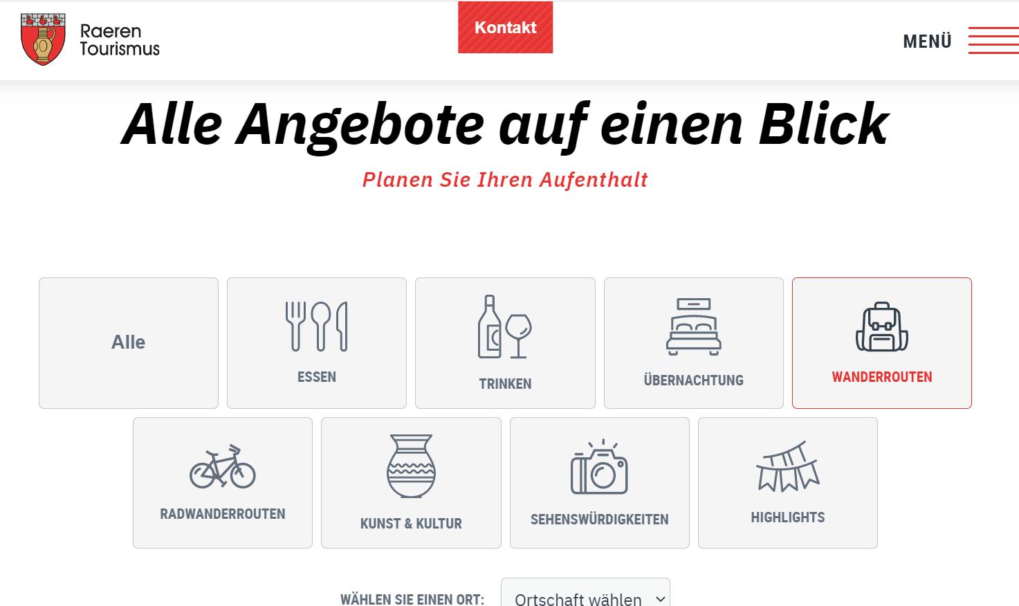 Die neue Webseite Raeren Tourismus