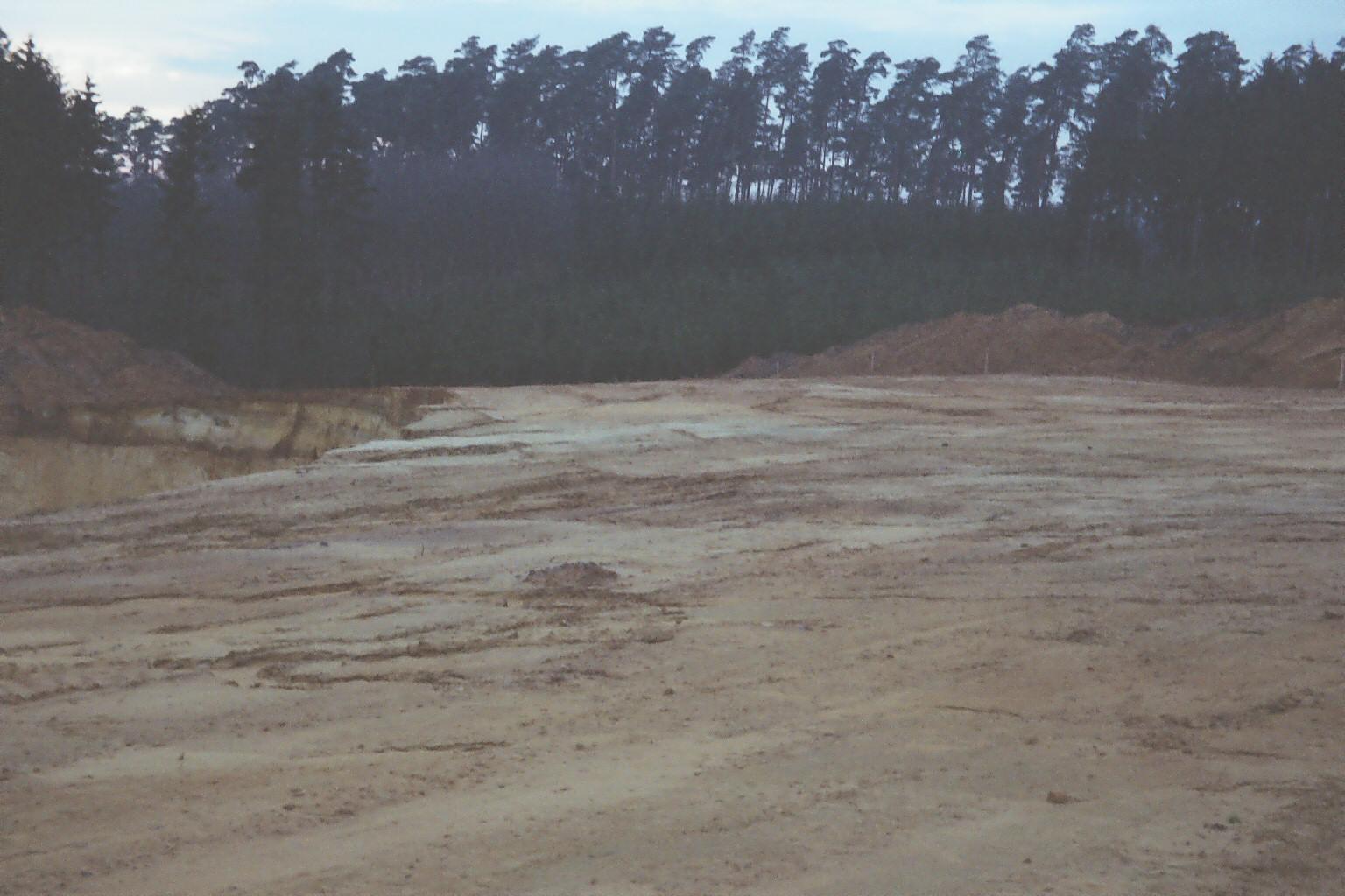 Erste Erdverschiebungen 1977