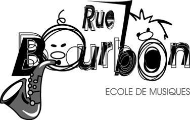 Logo pour l'école de musiques Rue Bourbon Lauzerte réalisation Sandra Clerbois