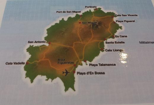 Karte von Ibiza