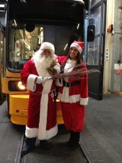 MVG Adventsbahn Weihnachtsmann