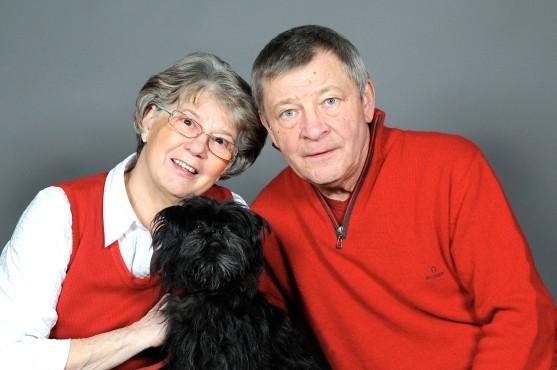 Christa und Manfred Helm mit Clarissa