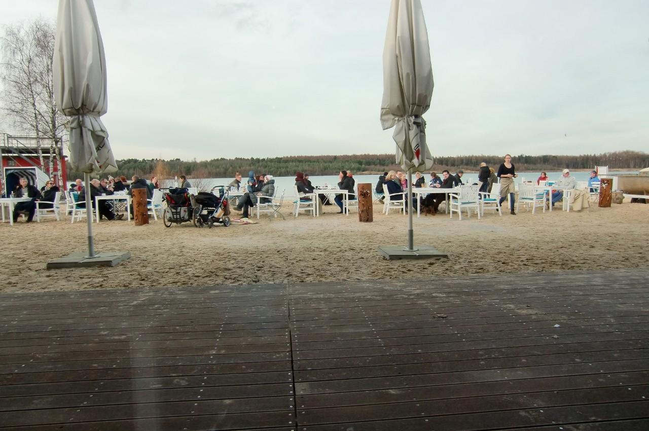 Und beobachtet derweil die Strandgänger
