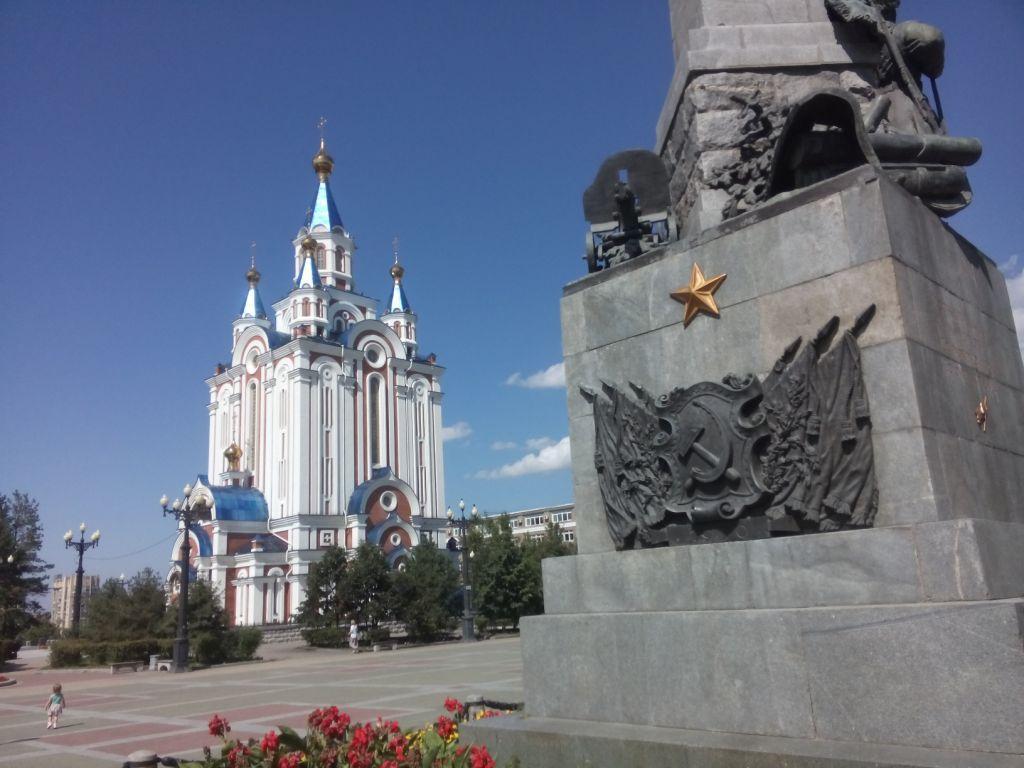 Auferstehungskirsche am Komsomolzenplatz in Chabarowsk