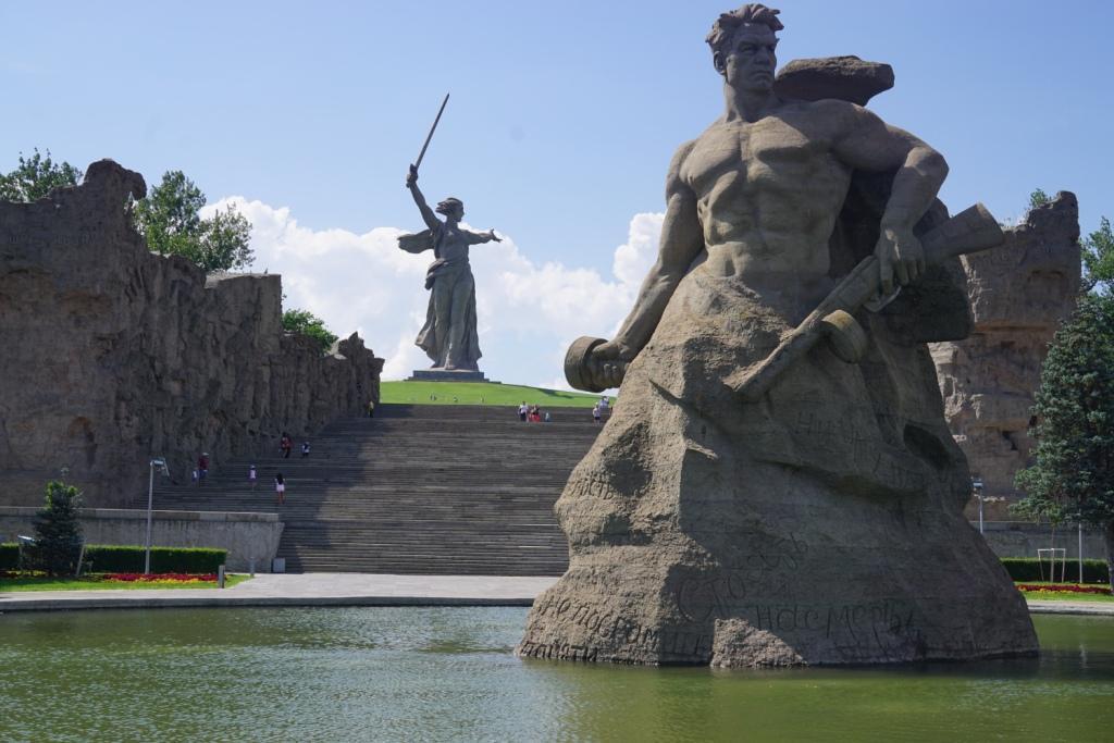 auf dem Mamaev-Hügel, Wolgograd