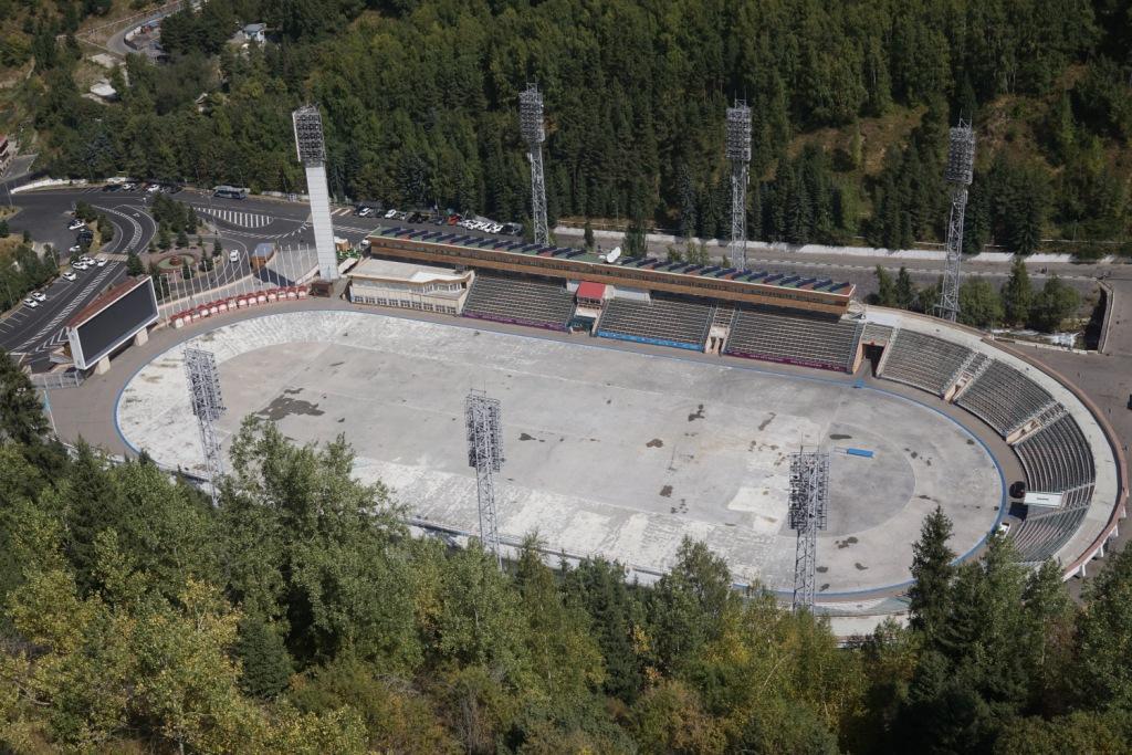Eislaufbahn Medeu bei Almaty, Kasachstan