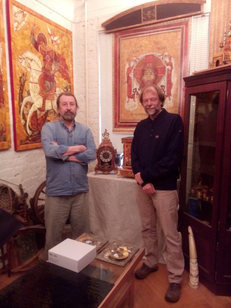 mit Alexander Krilow, dem Chefkurator des Bernsteinzimmers