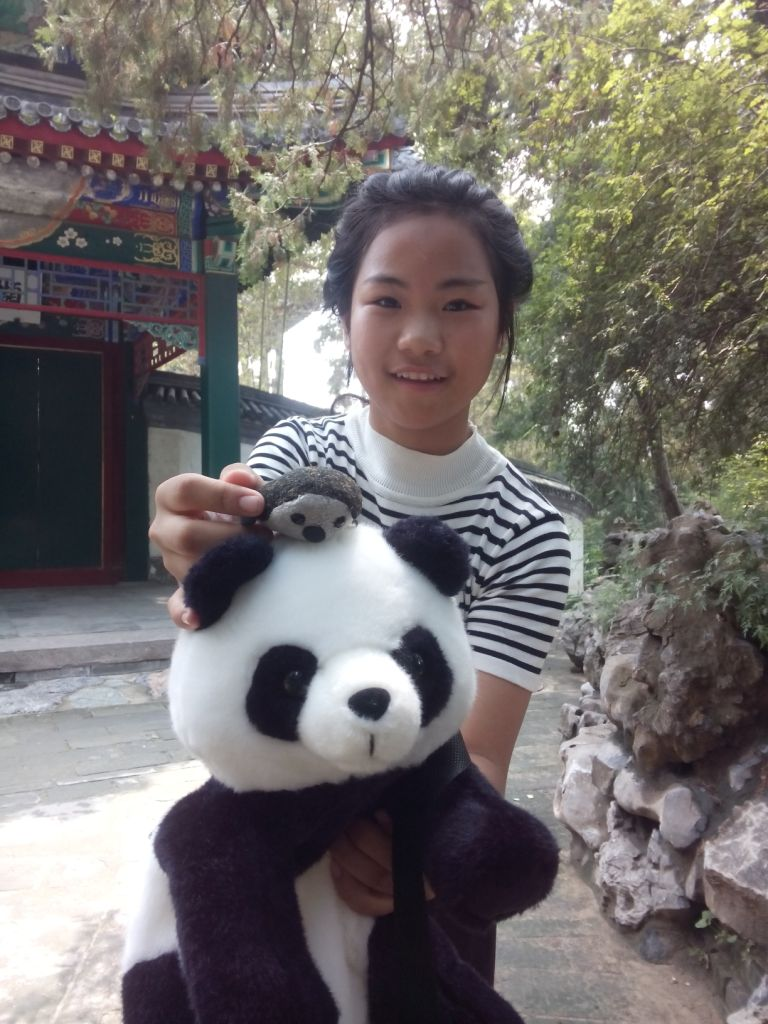 nettes Mädchen im Park, Peking