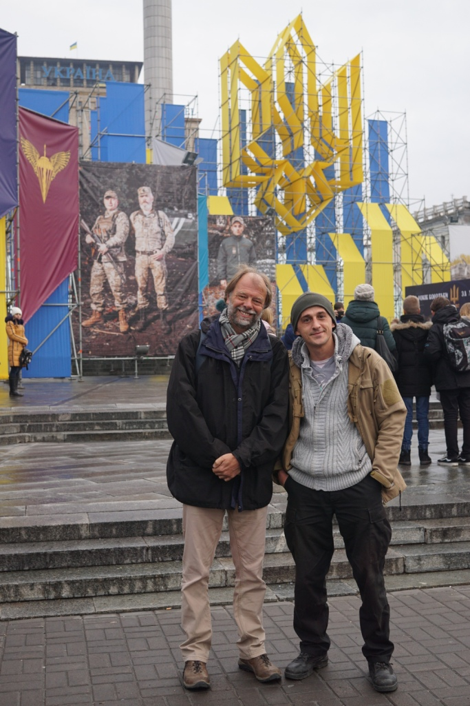 mit Yurij Rudenko am Maidan in Kiew, Ukraine
