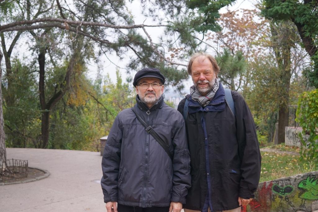 mit Serghei Munteanu in Kischinau, Moldawien