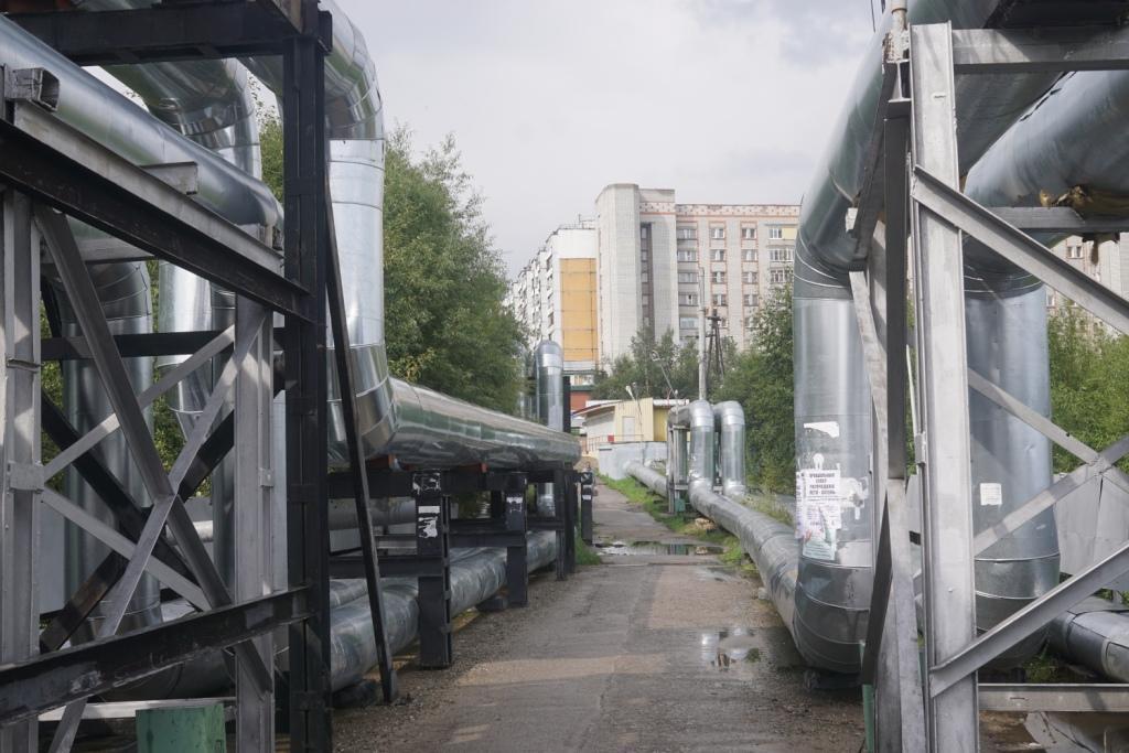 Brücke vom Bahnhof zur Stadt, Tynda
