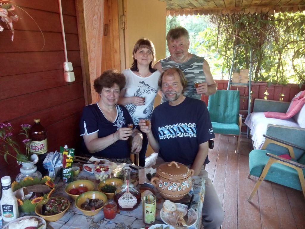 mit Inna und Familie