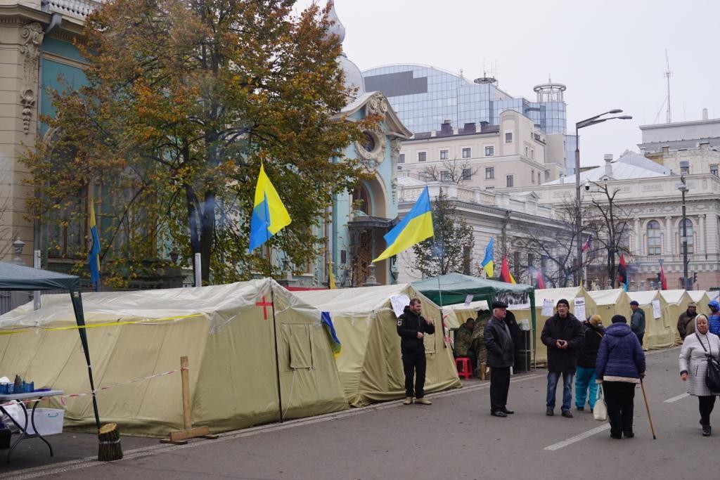 Maidan 2.0 in Kiew, Ukraine