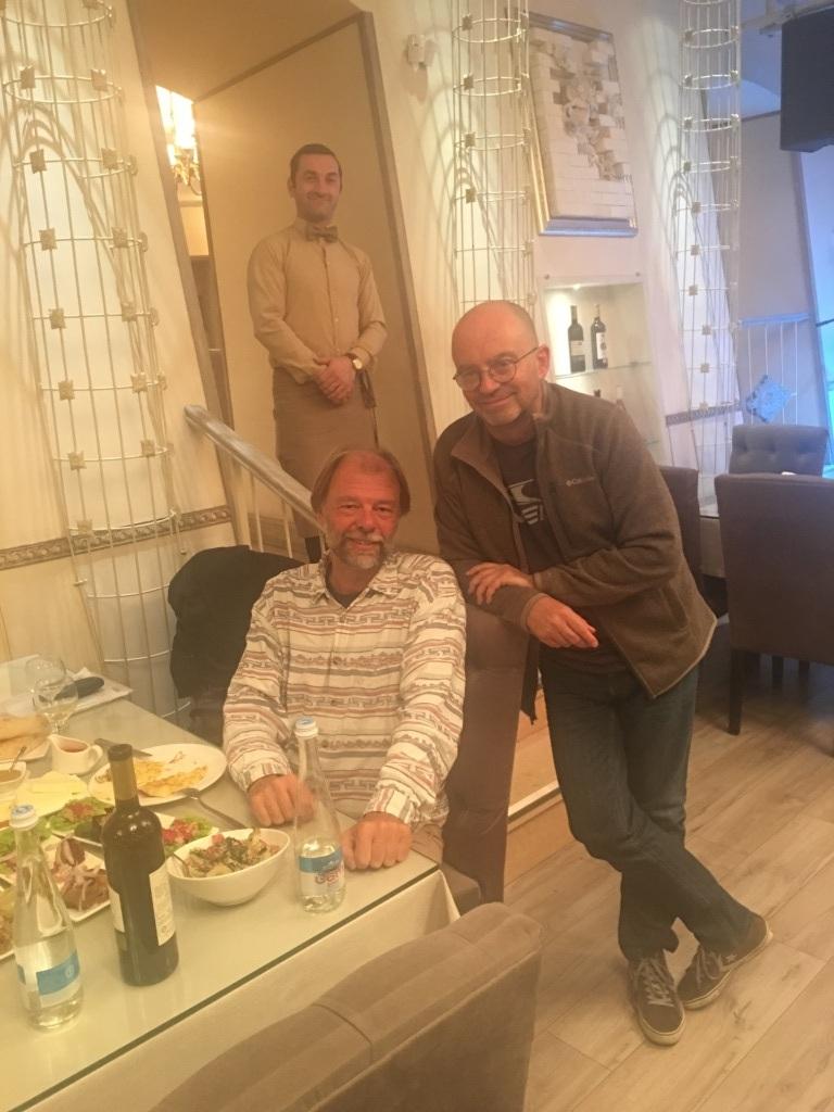 mit Oleg Kvlividze in Tiflis, Georgien