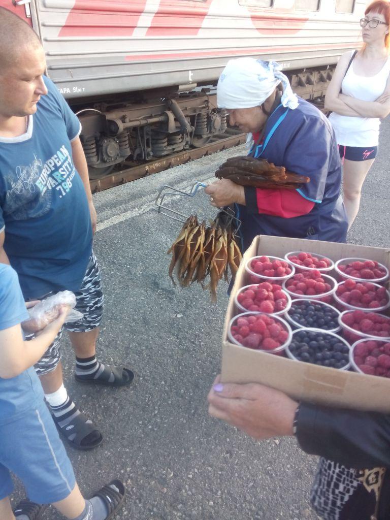 Versorgung an der Transsibirischen Eisenbahn