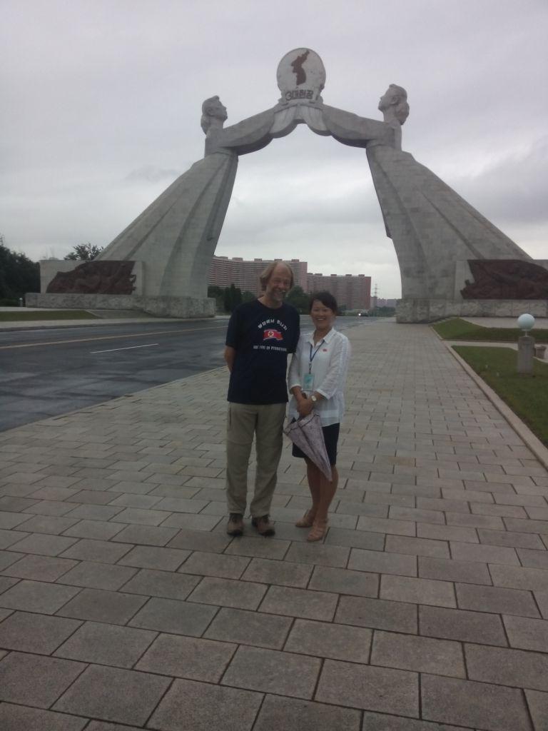 mit Frau Pak vereint, bei Pjöngjang, Nordkorea