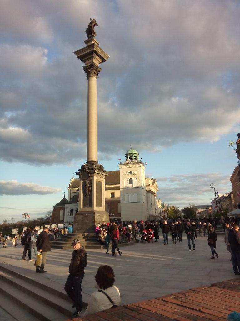 """in Warschau """"an der Säule"""""""