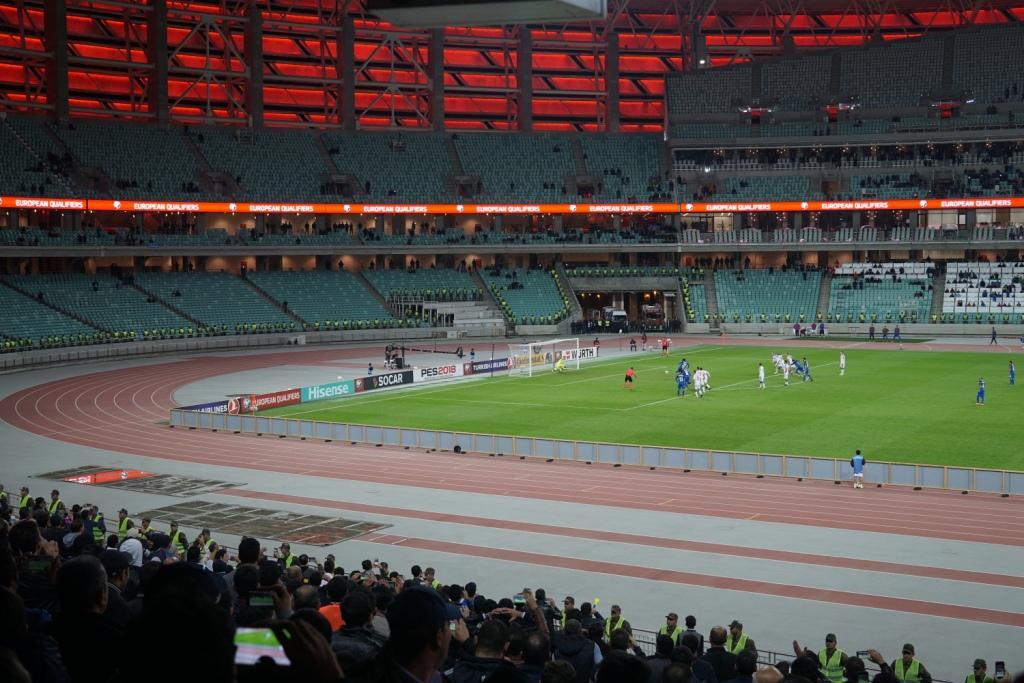 Elfmeter für Aserbaidschan, Olympiastadion Baku, Aserbaidschan