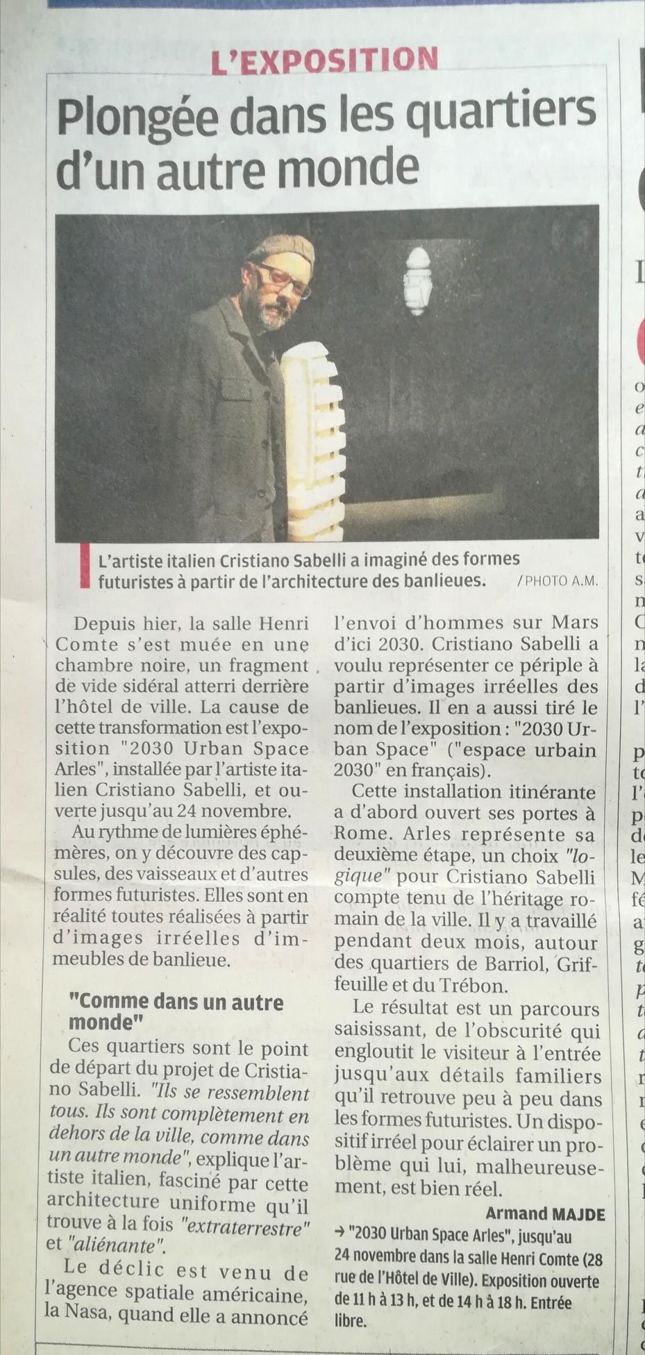 La Provence. dimanche 4 novembre 2018