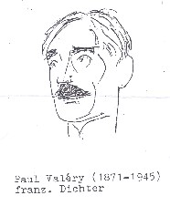 Paul Valéry (1871-1945), franz. Dichter